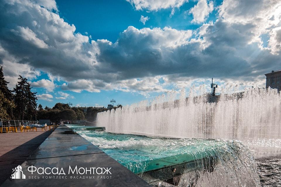 Фонтаны - Московская площадь фасадные работы
