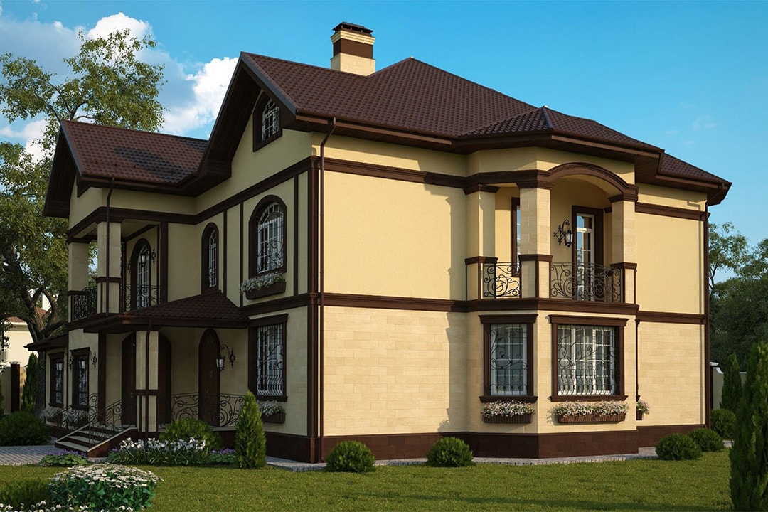 Виды и типы облицовки (отделки) фасадов домов, зданий - мокрый фасад