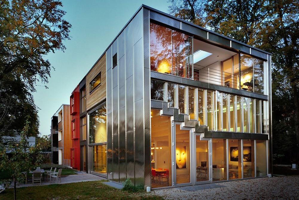 Виды и типы облицовки (отделки) фасадов домов, зданий - остекление фасада