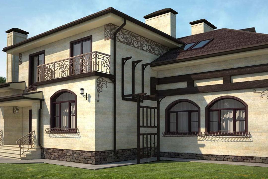 Виды и типы облицовки (отделки) фасадов домов, зданий - штукатурка