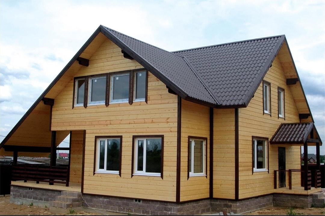 Виды и типы облицовки (отделки) фасадов домов, зданий - деревянный сайдинг