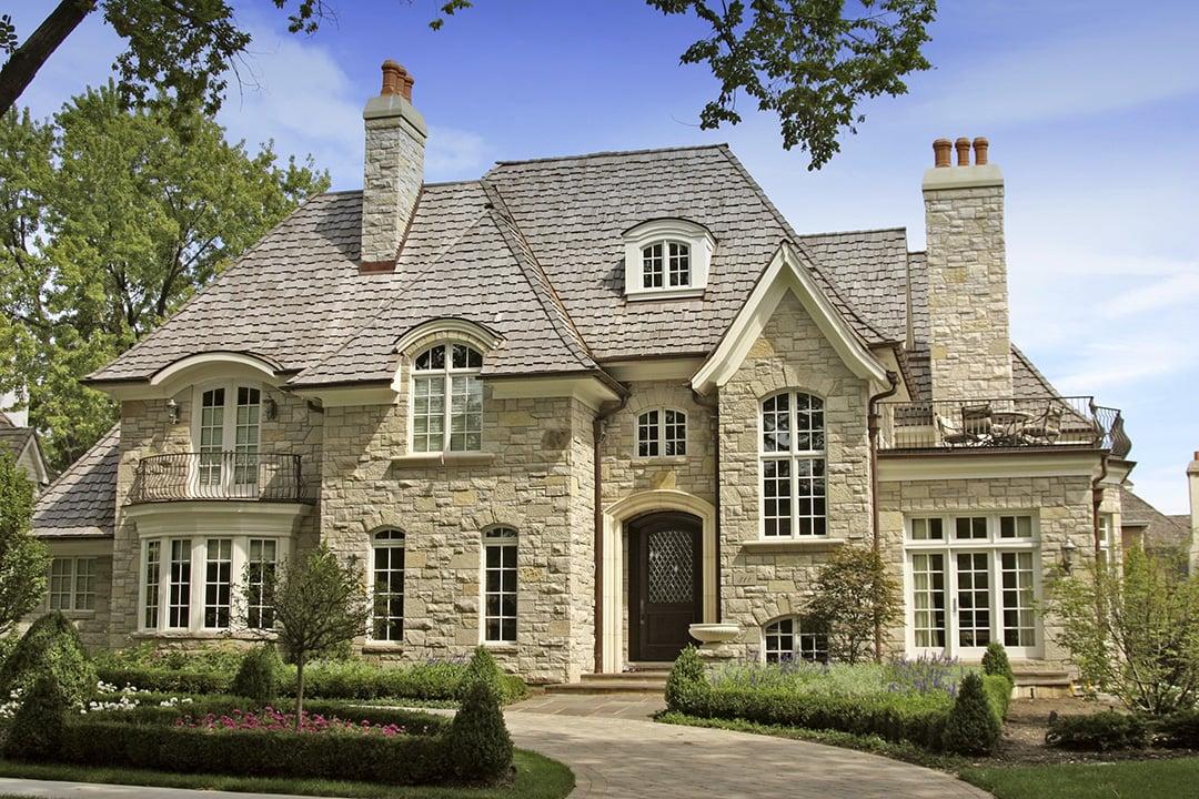 Виды и типы облицовки (отделки) фасадов домов, зданий - отделка камнем