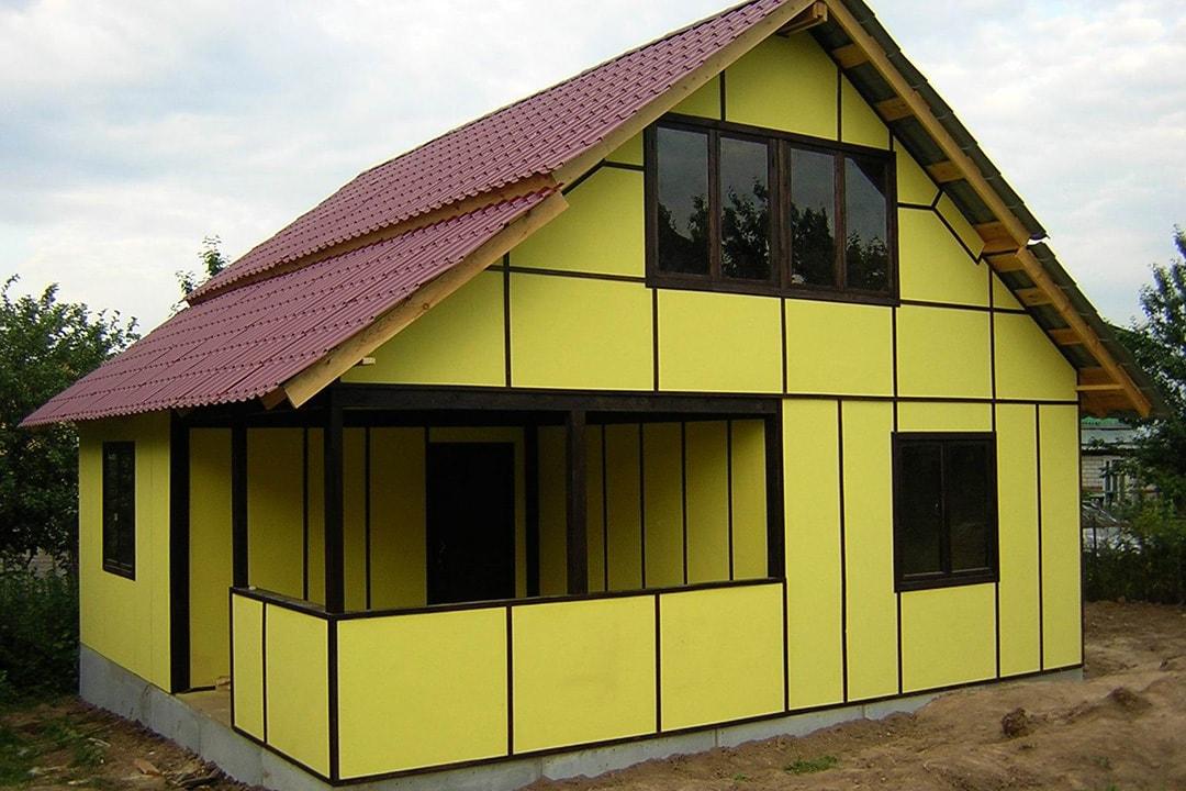 Виды и типы облицовки (отделки) фасадов домов, зданий - сендвич-панели