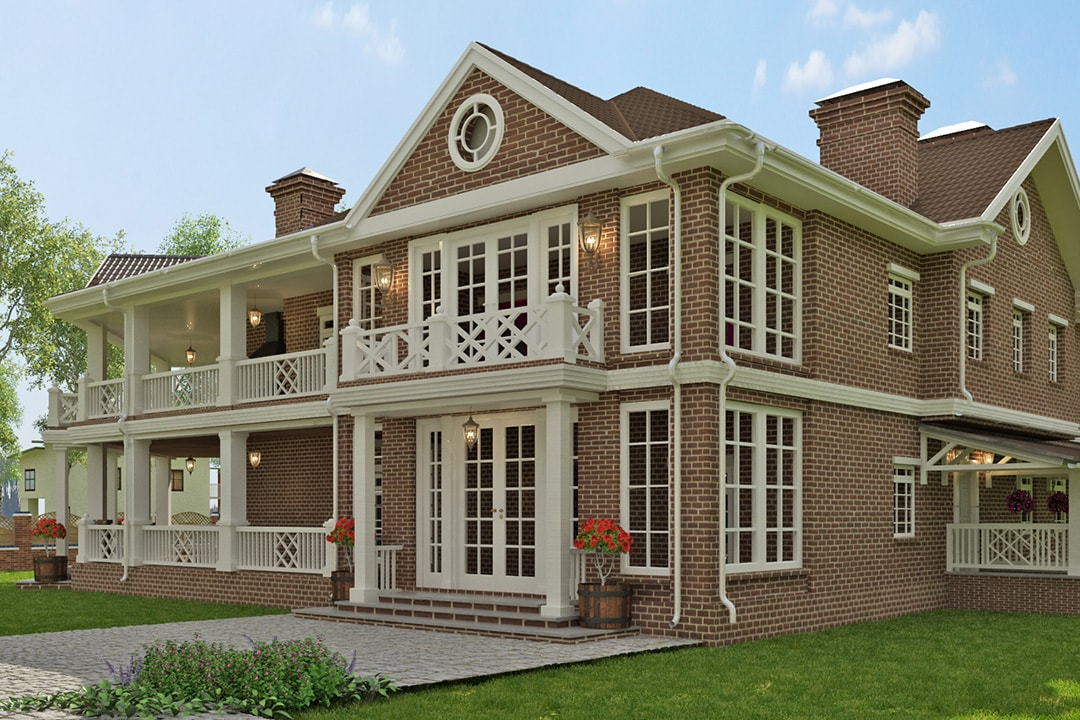 Фасад дома в английском стиле фото 2