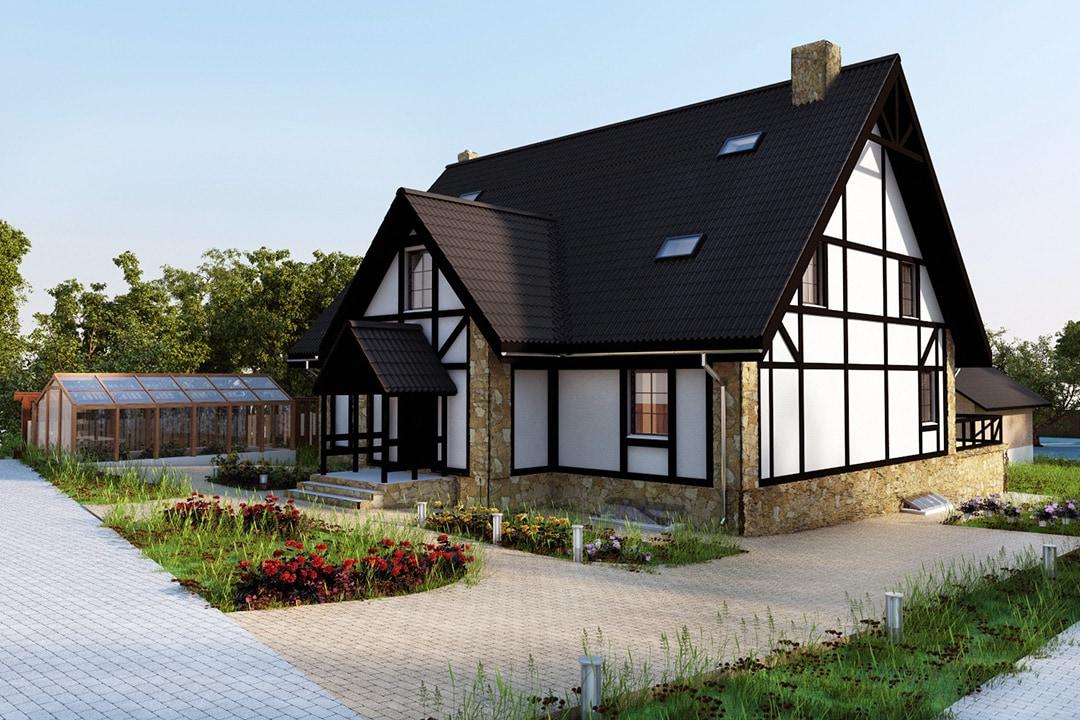 Фасад дома в стиле немецком стиле фото 2