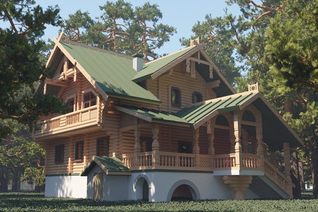 Фасад дома в русском стиле фото 1