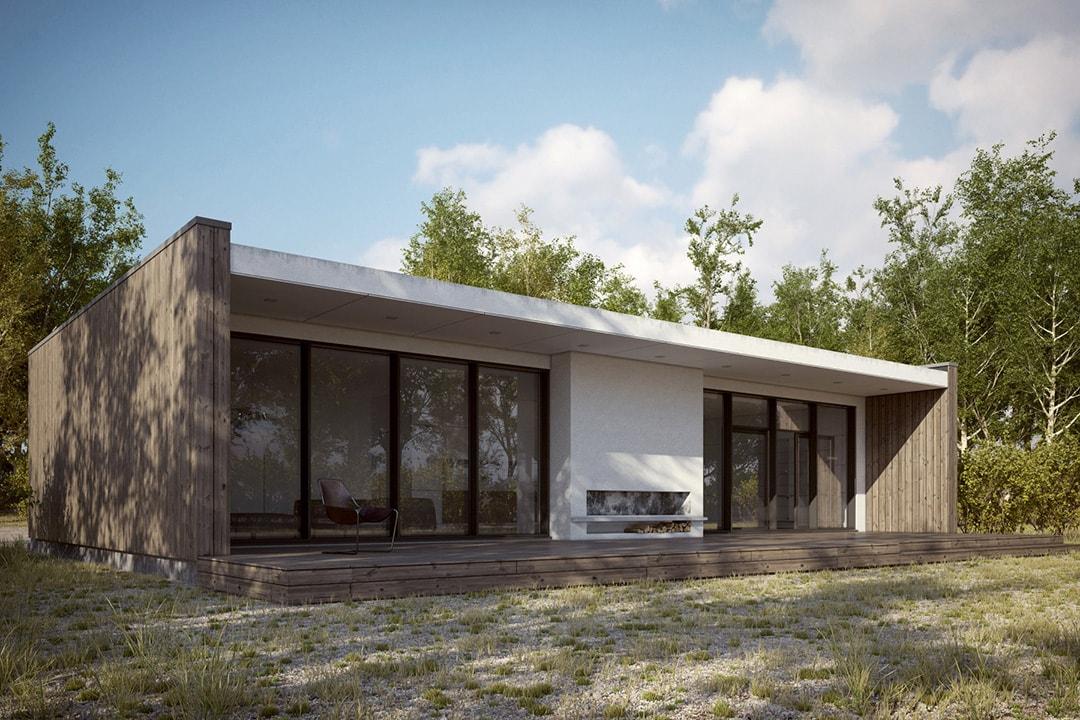 Фасад дома в скандинавском стиле фото 1