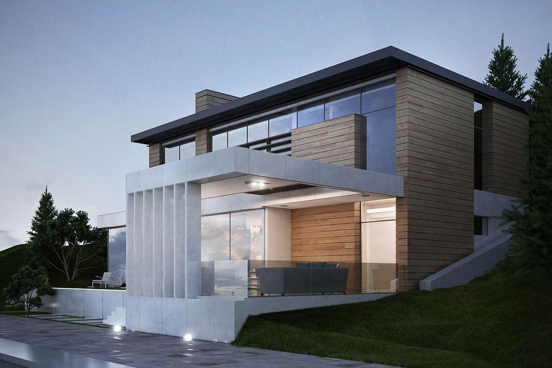 Фасад дома в современном стиле фото 1