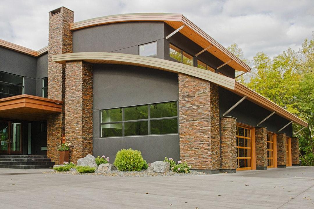 Фасад дома в современном стиле фото 2