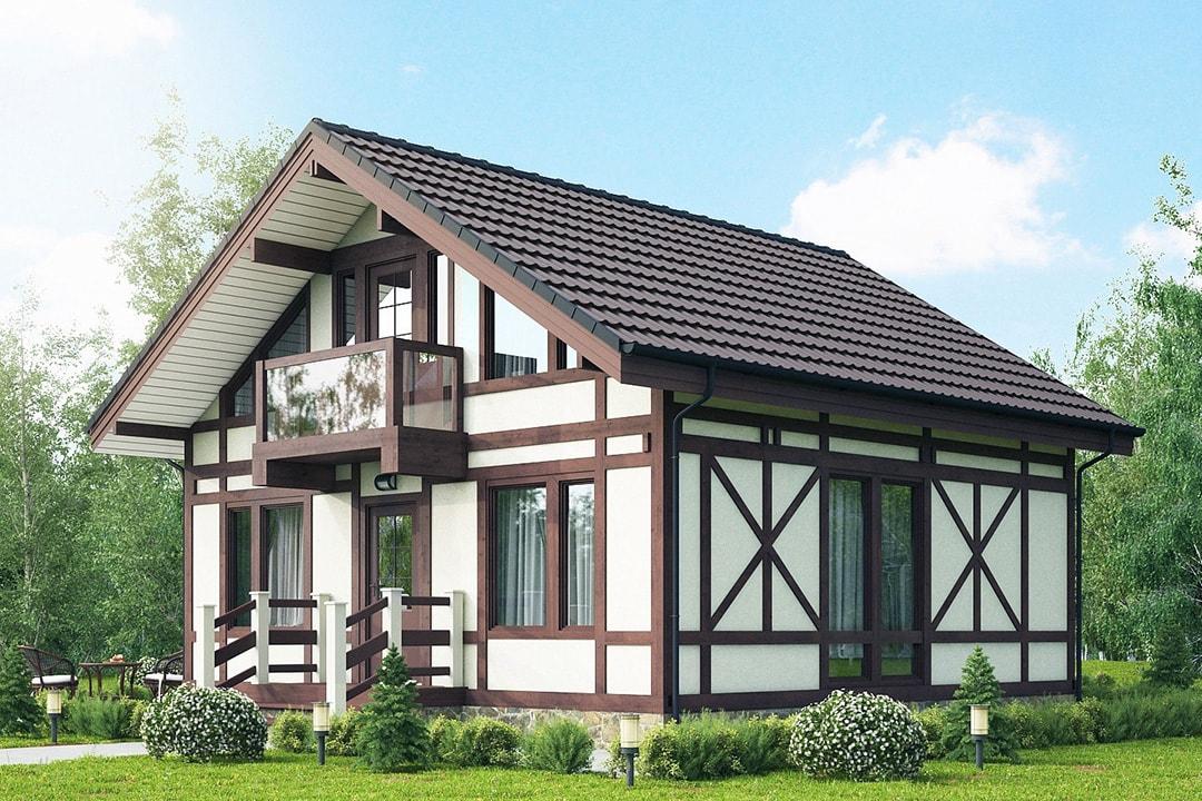 Фасад дома в стиле фахверк фото 1