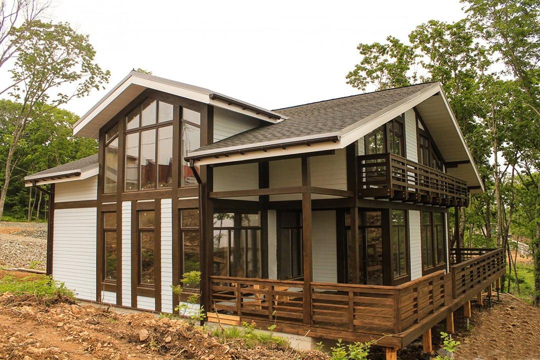 Фасад дома в стиле фахверк фото 2