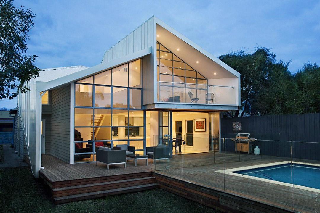 Фасад дома в стиле лофт фото 2
