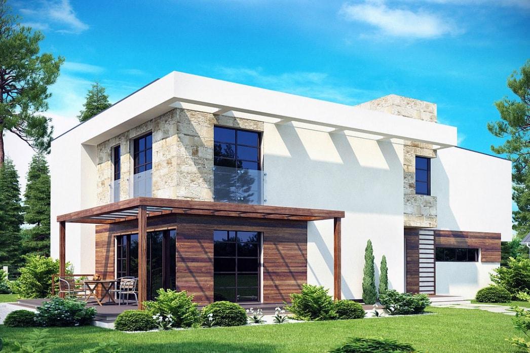 Фасад дома в стиле модерн фото 1