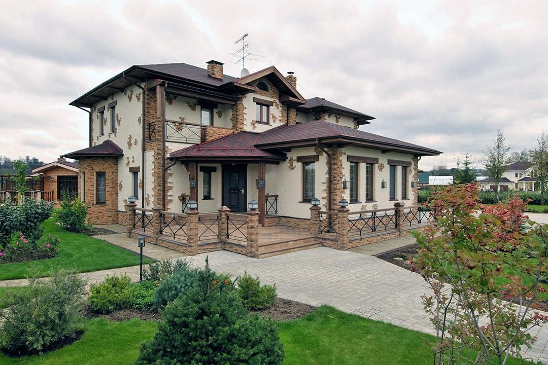 Фасад дома в стиле шале фото 2