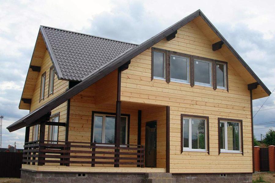 Мокрый фасад - внешняя отделка фасада каркасного дома - фото 1