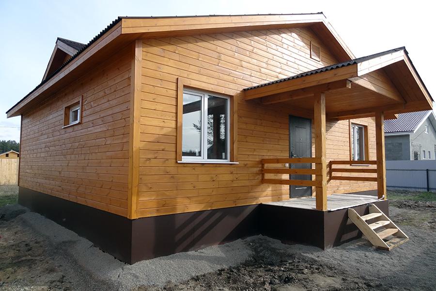 Облицовка фасада каркасного дома - имитация под брус - фото 2