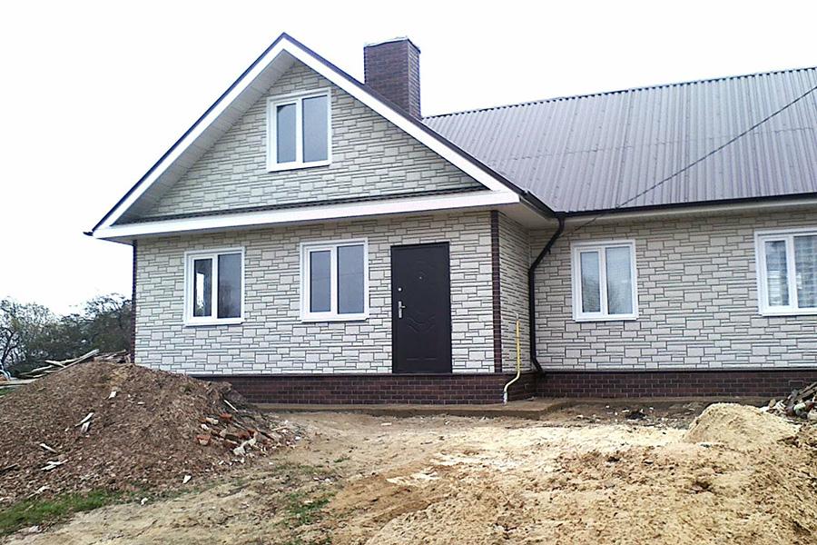 Облицовка фасада каркасного дома камнем - фото 3