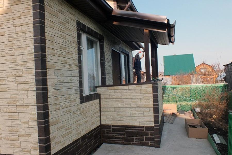 Облицовка фасада каркасного дома камнем - фото 4