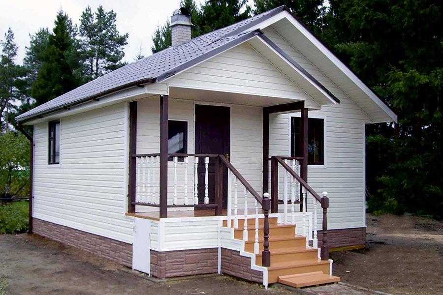 Сайдинг - внешняя отделка фасада каркасного дома - фото 2