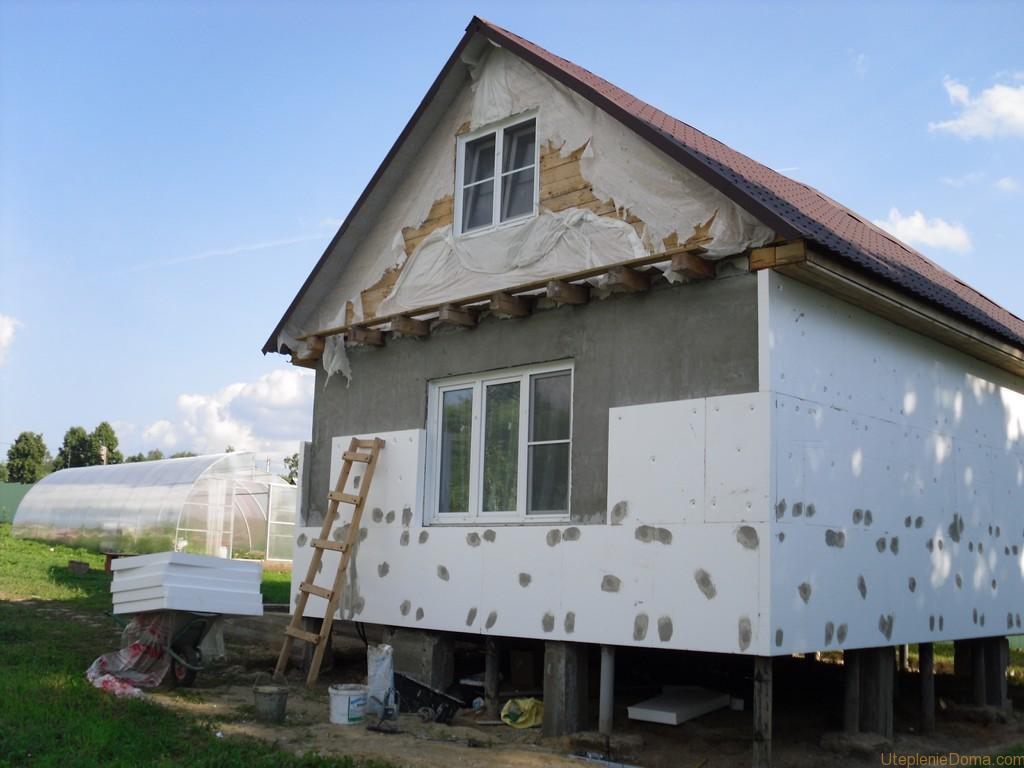 Утепление фасада дома пенопластом - фото 7