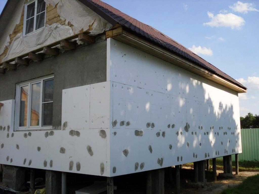 Утепление фасада дома пенопластом - фото 13