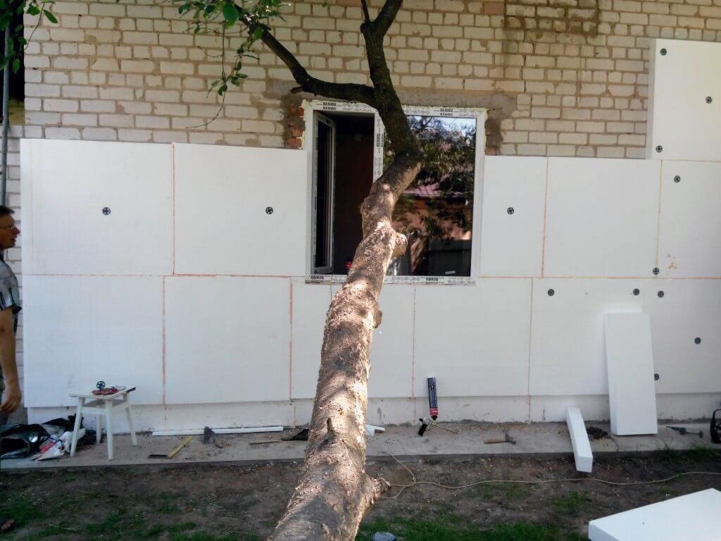 Утепление фасада дома пенопластом - фото 14