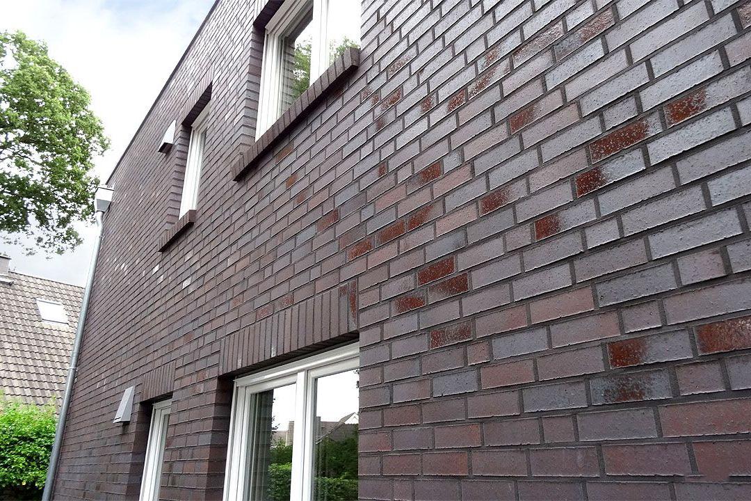 Отделка фасада клинкерной плиткой - фото 1