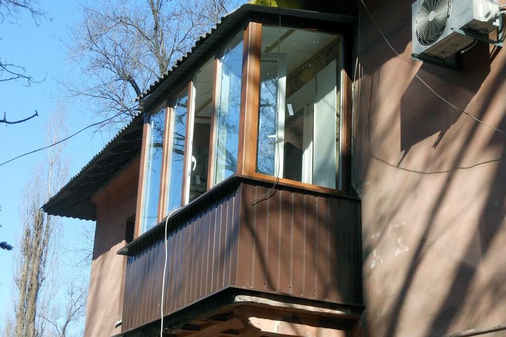 Технология обработки по завершении внешней обшивки балкона