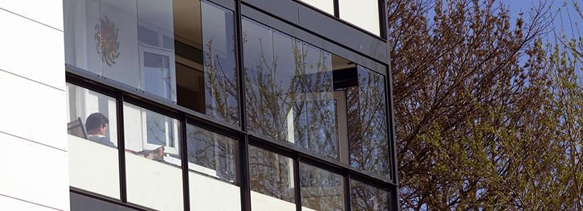 Остекление балконов и лоджий алюминиевым профилем
