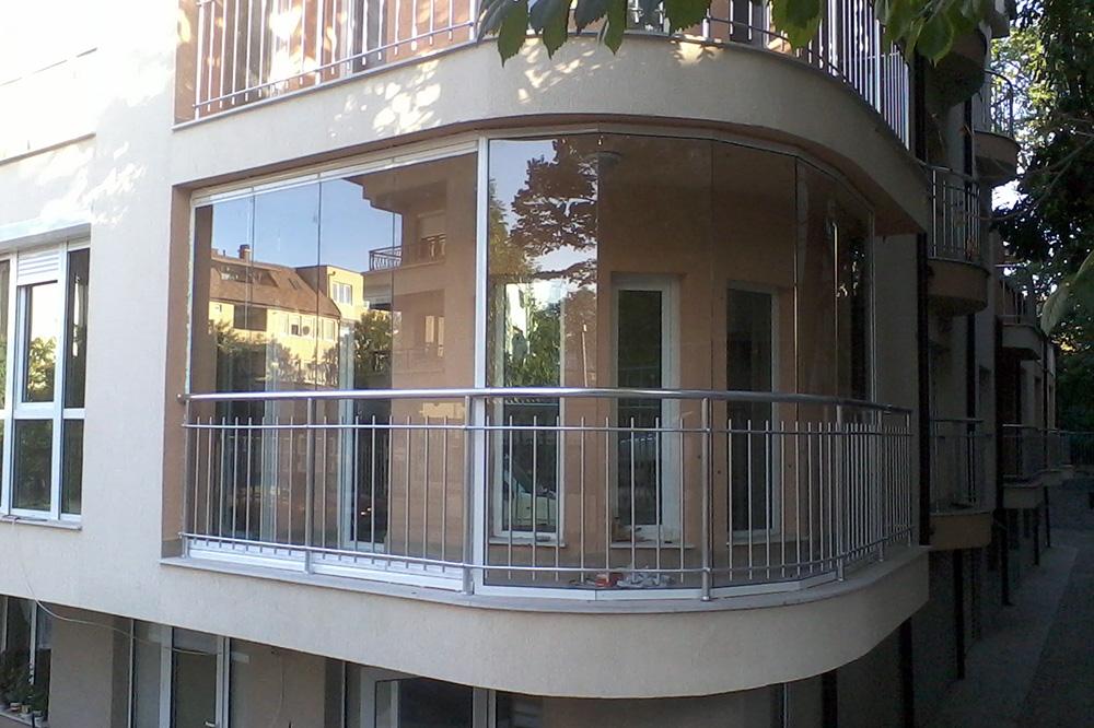 Остекление балконов и лоджий алюминиевым профилем - 1