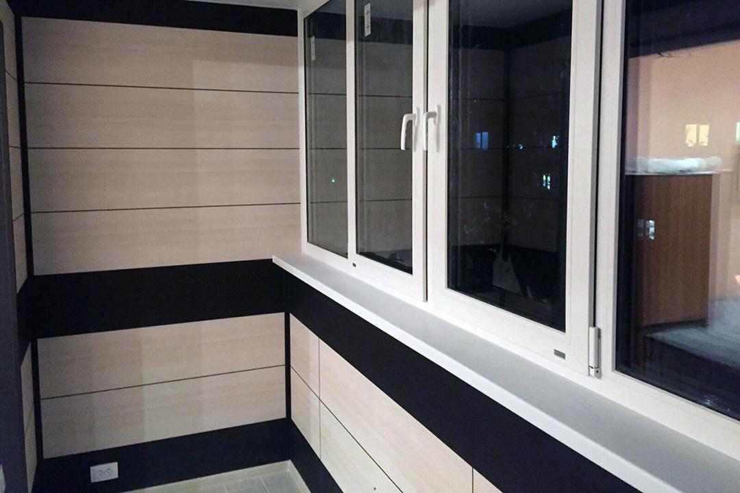 Процесс отделки балкона (лоджии) МДФ панелями