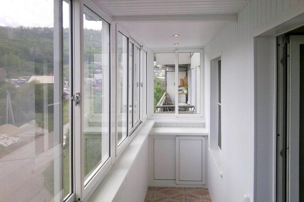 Обрешетка балкона при обшивке МДФ панелями