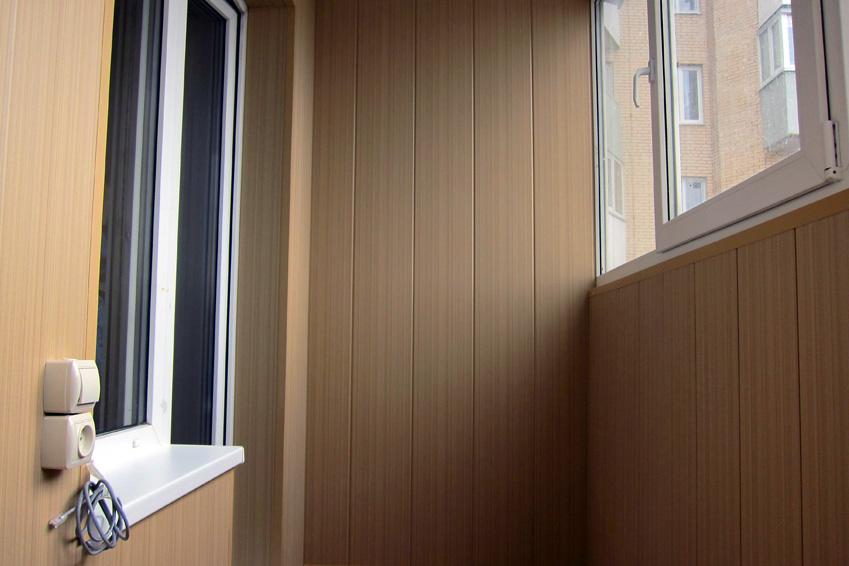 Крепление МДФ панелей при отделке балкона