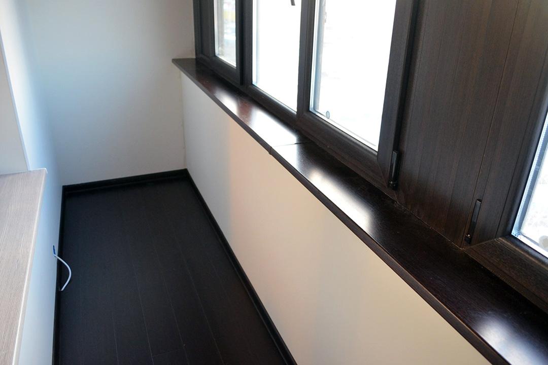 Внутренняя отделка балкона гипсокартоном