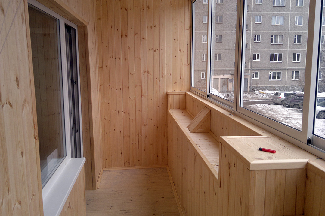 Виды и классы вагонки для отделки балкона