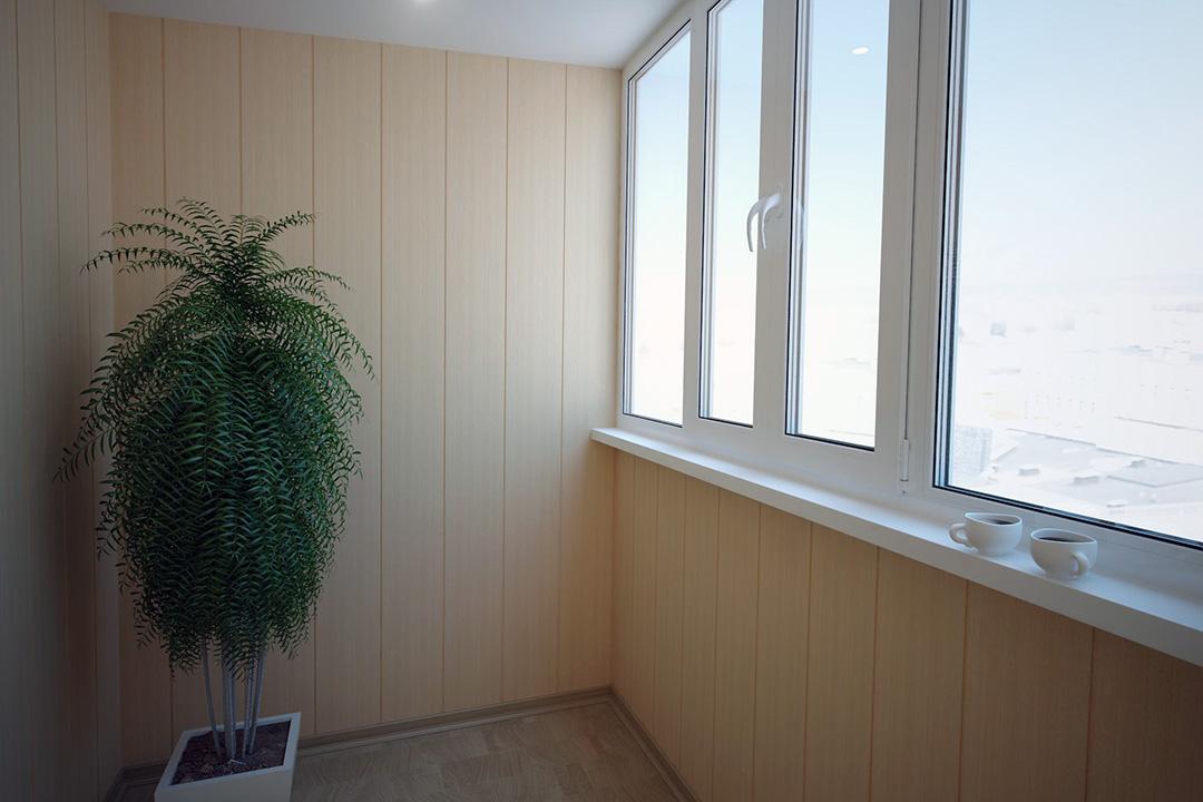 Порядок монтажа пластиковых панелей для отделки лоджии и балкона