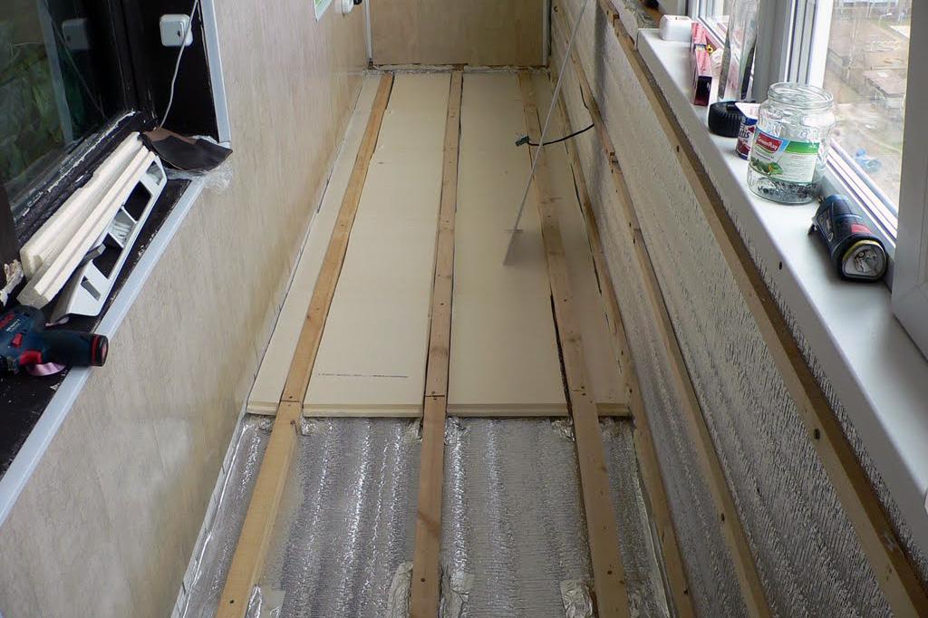 Гидроизоляция стены на балконе